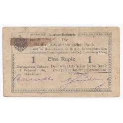 AFRIQUE DE L'EST ALLEMANDE - PICK 20 - 1 RUPIE - 01/02/1916