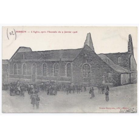 02500 - HIRSON - L' église - Après l'incendie du 9 janvier 1906