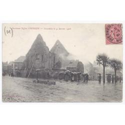 02500 - HIRSON - Ancienne église - Incendiée le 9 janvier 1906