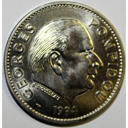 MEDAILLE - PRESIDENTS FRANCAIS - GEORGES POMPIDOU 1969-1974 - 1994
