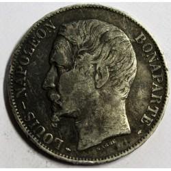 FRANCE - KM 773 - 5 FRANCS 1852 A - Paris - TYPE LOUIS NAPOLEON BONAPARTE - LARGE HEAD