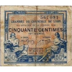69 - LYON - CHAMBER OF COMMERCE - 50 CENTIMES - 19/02/1920