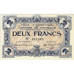 80 - ABBEVILLE - CHAMBRE DE COMMERCE - 2 FRANCS 1920