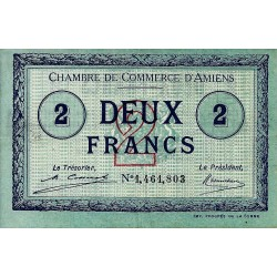 80 - AMIENS - CHAMBRE DE COMMERCE - 2 FRANC 1922