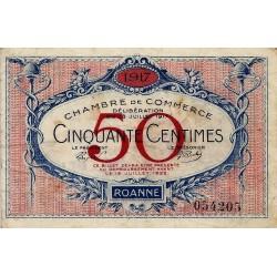 42 - ROANNE - CHAMBRE DE COMMERCE - 50 CENTIMES 1917