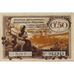 59 NORD - 62 PAS DE CALAIS - CHAMBRE DE COMMERCE - 50 CENTIMES 1918