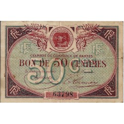 44 - NANTES - CHAMBER OF COMMERCE - 50 CENTIMES - 1918