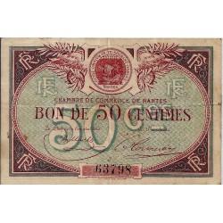 44 - NANTES - CHAMBRE DE COMMERCE - 50 CENTIMES - 1918