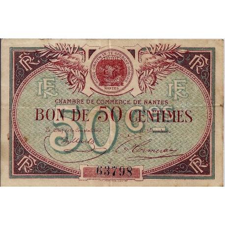 44 nantes chambre de commerce 50 centimes 1918 - Chambre de commerce de nantes ...