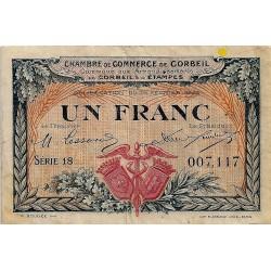 91 - CORBEIL - CHAMBRE DE COMMERCE - 1 FRANC 1920