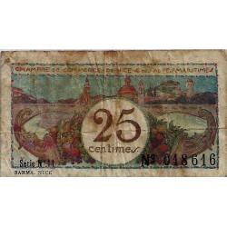 06 - NICE - CHAMBRES DE COMMERCE - 25 CENTIMES - 1918