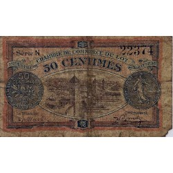 46 - LOT - CHAMBER OF COMMERCE - 50 CENTIMES 1920