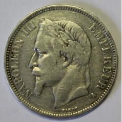 GADOURY 739 - 5 FRANCS 1867 A Paris TYPE NAPOLEON III - KM 799
