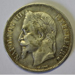 GADOURY 739 - 5 FRANCS 1867 BB Strasbourg TYPE NAPOLEON III - KM 799