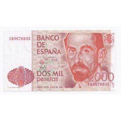 ESPAGNE - PICK 159 - 2000 PESETAS - MADRID 22/07/1980 - TRES BEAU