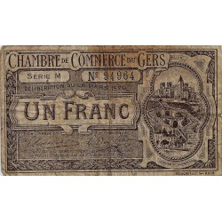 32 - GERS - CHAMBER OF COMMERCE - 1 FRANC - 26/03/1920