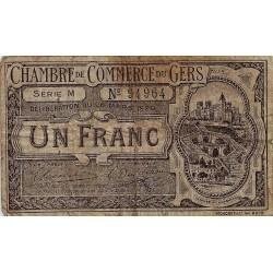 32 - GERS - CHAMBRE DE COMMERCE - 1 FRANC - 26/03/1920