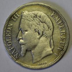 GADOURY 739 - 5 FRANCS 1868 A Paris TYPE NAPOLEON III - KM 799