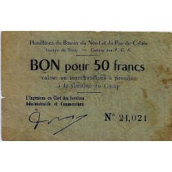 62 - BRUAY - 50 FRANCS (1945) - HOUILLERES OF THE NORD BASIN AND NORD PAS CALAIS