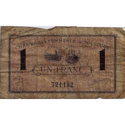 31 - TOULOUSE - CHAMBRE DE COMMERCE - 1 FRANC - 03/03/1922