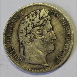 GADOURY 678 - 5 FRANCS 1841 W Lille TYPE LOUIS PHILIPPE 1er - KM 749