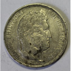 FRANCE - KM 749 - 5 FRANCS 1842 W Lille TYPE LOUIS PHILIPPE 1er