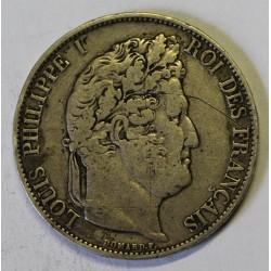 GADOURY 678a - 5 FRANCS 1844 BB Strasbourg TYPE LOUIS PHILIPPE 1er - KM 749