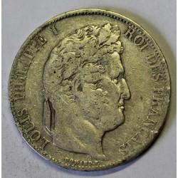 GADOURY 678a - 5 FRANCS 1845 W Lille TYPE LOUIS PHILIPPE 1er - KM 749.13