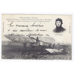 County 02130 - COULONGES - AUTOGRAPH OF AVIATOR ALFRED GUILLAND IN 1914