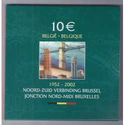 BELGIQUE - 10 EUROS 2002 - NORTH SOUTH CONNECTION BRUSSELS