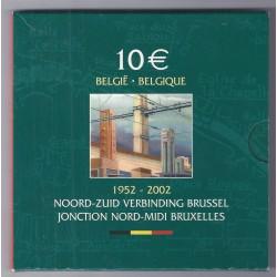 BELGIQUE - 10 EUROS 2002 - JONCTION NORD - MIDI BRUXELLES - OCCASION