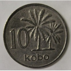 NIGERIA - KM 10 - 10 KOBO 1976