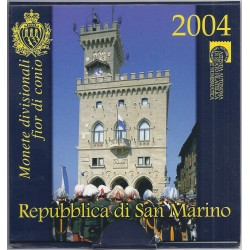 SAINT MARIN - COFFRET EURO BRILLANT UNIVERSEL 2004 - 9 PIECES (8.88 euros) - OCCASION