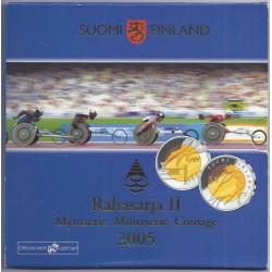 FINLANDE - COFFRET EURO BRILLANT UNIVERSEL 2005 - 9 PIECES (8.88 euros) - OCCASION