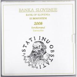 SLOVENIE - COFFRET EURO BRILLANT UNIVERSEL CLASSIQUE 2008 - 8 PIECES - OCCASION