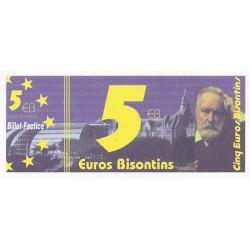 25 - BESANCON - 5 EUROS BISONTINS - NEUF