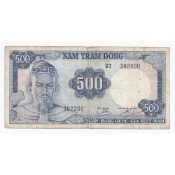 VIETNAM - PICK 23 a - 500 DONG - NON DATE (1966) - TTB