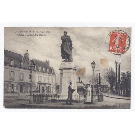 02600 - VILLERS COTTERÊTS - STATUE D'ALEXANDRE DUMAS
