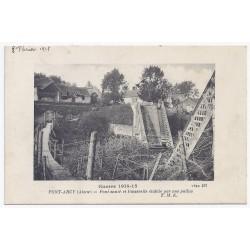 02160 - PONT ARCY - Pont sauté et Passerelle établie par nos poilus