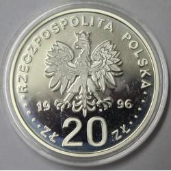 POLOGNE - Y 309 - 20 ZLOTYCH 1996 - 400ème Anniversaire de Varsovie comme capitale