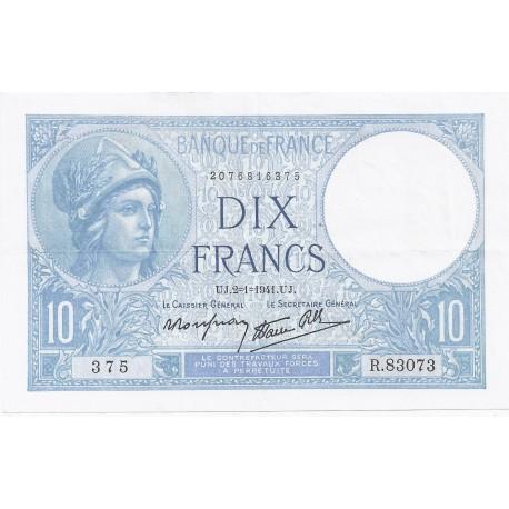 FAY 07/26 - 10 FRANCS MINERVE - 02/01/1941 - PICK 84