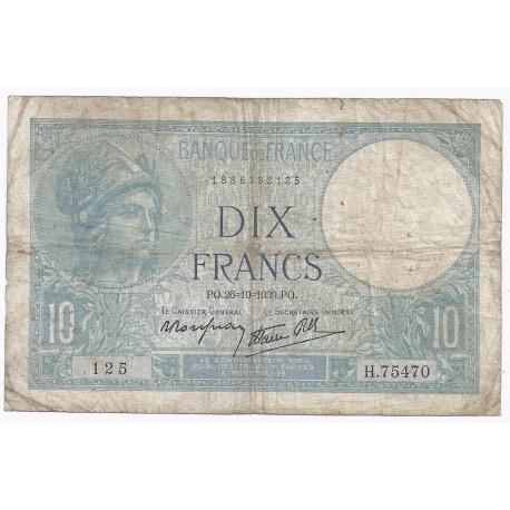 FAY 07/13 - 10 FRANCS MINERVE - 26/10/1939 - PICK 84