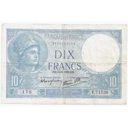 FAY 07/07 - 10 FRANCS MINERVE - 14/09/1939 - PICK 84
