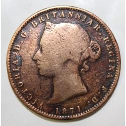 JERSEY - KM 5 - 1/13 SHILLING 1871