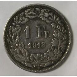 SUISSE - KM 24 - 1 FRANC 1913 B - HELVETIA DEBOUT