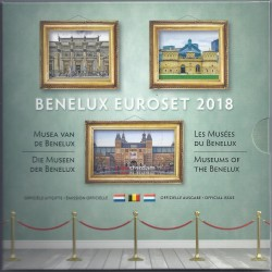 BENELUX - COFFRET EURO BRILLANT UNIVERSEL 2018 - 3 X 3.88 EUROS