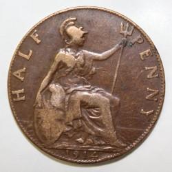 GRANDE BRETAGNE - KM 809 - 1/2 PENNY 1914 - GEORGE V