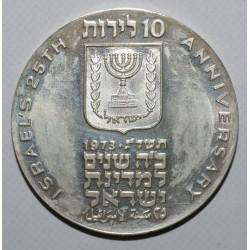 ISRAËL - KM 71 - 10 LIROT - 1973