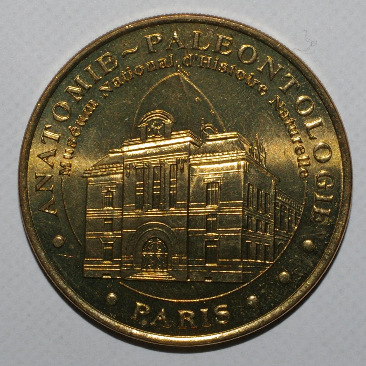 County 75 - PARIS - MUSEUM - ANATOMY - PALEONTOLOGY - MDP - 2002