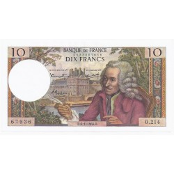 FAY 62/29 - 10 FRANCS VOLTAIRE - 06/01/1966 - PICK 147